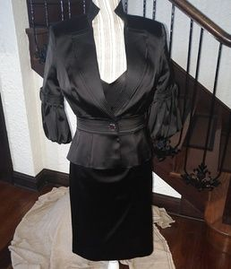 Karen Millen Black Dress Jacket Duo Size 8